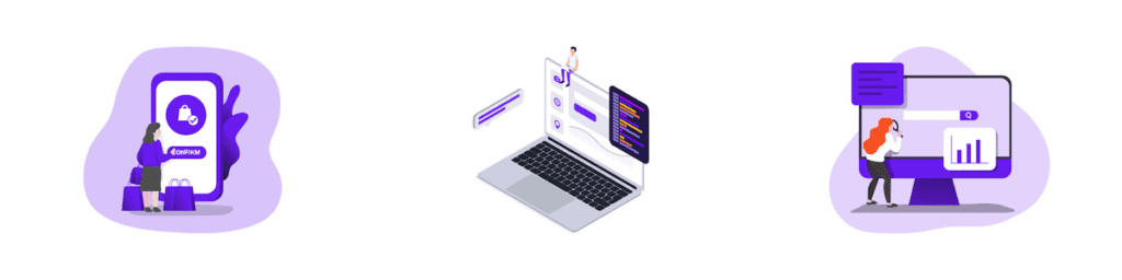 Web Build Services Illustration